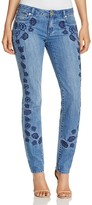 MICHAEL Michael Kors Dillon Floral Embroidered Slim Jeans in Antique Wash - 100% Exclusive