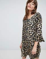 B.young Leopard Print Shift Dress