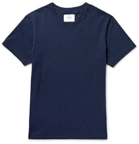 Reigning Champ Ring-Spun Cotton-Jersey T-Shirt - Men - Midnight blue