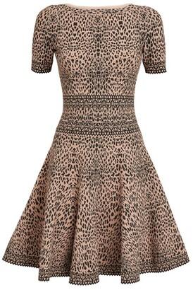 Alaia Lynx Print Dress