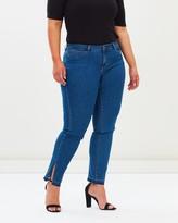 Junarose Slitted Slim Fit Jeans