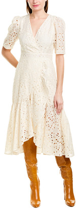 Rebecca Taylor Clover Silk-Blend Midi Dress
