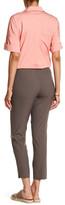 Lafayette 148 New York Side Zip Wool Blend Cropped Pant