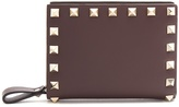 Valentino Rockstud leather square wallet
