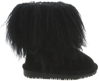 BearPaw Boo Shaggy Genuine Lamb Hair Bootie