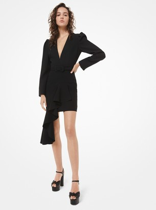 Michael Kors Double Crepe-Sable Asymmetric Dress