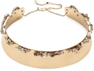 Alexis Bittar 10K Goldplated & Crystal Collar Necklace