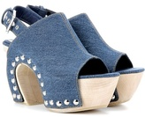 Alexander McQueen Mytheresa.com Exclusive Denim Platform Clogs