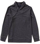 Perry Ellis Big & Tall Shawl Collar Marled Pullover