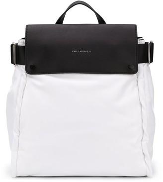 Karl Lagerfeld Paris Contrast Backpack
