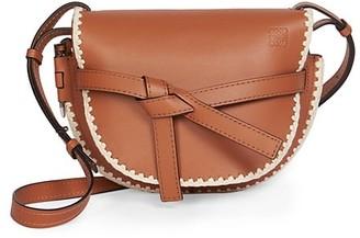Loewe Small Gate Crochet Leather Saddle Bag