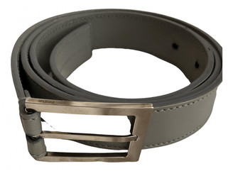 Christian Dior Grey Leather Belts