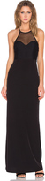Donna Mizani Racer Front Mesh Gown