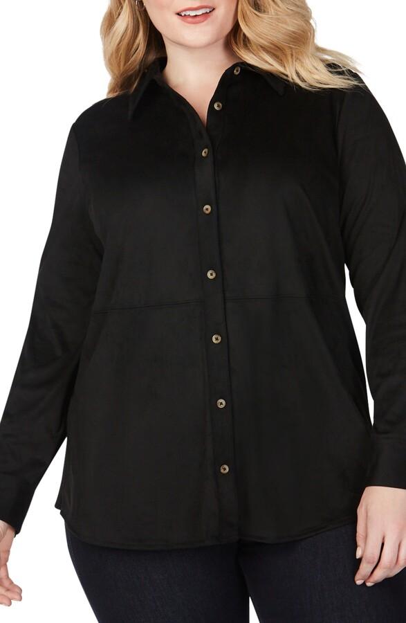 Foxcroft Journey Faux Suede Shirt