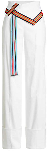 Diane von Furstenberg High-Waisted Pants with Linen