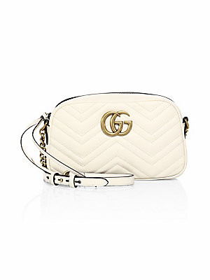 Gucci Women's GG Small Matelassé Leather Camera Bag