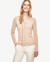 Ann Taylor Petite Ruffle Cropped Cardigan