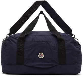 Moncler Navy Nylon Duffle Bag