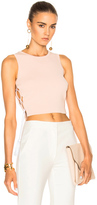 Jonathan Simkhai for FWRD Knit Lace-up Top in Neutrals.