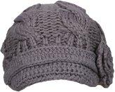 Simplicity Women's Knitted Beanie Cap Winter Crochet Hat, 3-Light Grey