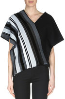 Roland Mouret Latrilla Wide-Stripe Off-The-Shoulder Top, Black/White