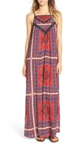 Band of Gypsies Scarf Print Maxi Dress