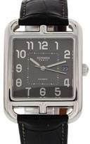 Hermes Paris Cape Cod CD6.710 Stainless Steel & Leather Automatic 37mm Mens Watch