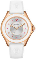 Michele Cape Topaz White Silicone Watch