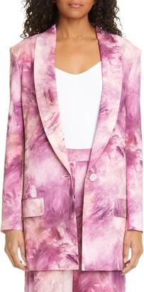 Moschino Paint Print Long Blazer