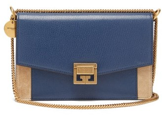 Givenchy Gv3 Mini Leather And Suede Bag - Blue Multi