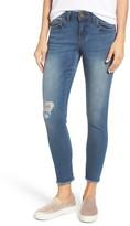 Wit & Wisdom Petite Women's Seamless Distressed Skinny Jeans