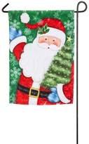 Evergreen Christmas Santa Indoor / Outdoor Garden Flag