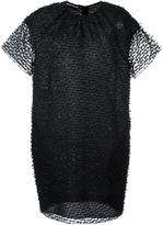 Rochas sheer layer dress - women - Silk/Polyamide/Wool - 38