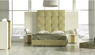 Orren Ellis Tufted Solid Wood and Upholstered Standard Bed Size: King