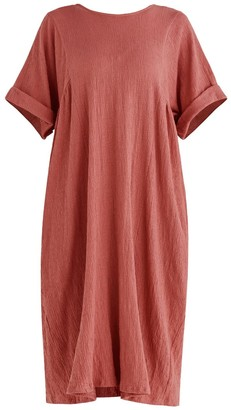 Paisie Selsey Relaxed Fit Dress In Dark Pink