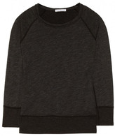 James Perse Cotton-blend slub-French terry sweatshirt