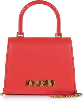 Love Moschino Signature Top Handle Evening Bag w/Chain