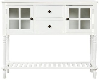 "Rosecliff Heights Mccaskill 42"" Wide 2 Drawer Wood Server Color: Gray"