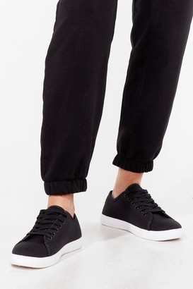 Nasty Gal Womens Lace Take It Slow Canvas Sneakers - Black