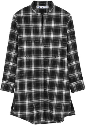 Off-White Coulisse checked flannel shirt dress