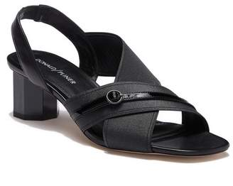 Donald J Pliner Radly Geometric Block Heel Slingback Sandal