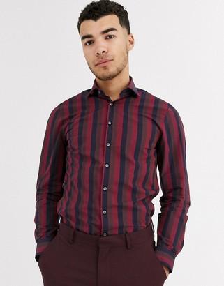 Calvin Klein wide stripe slim fit shirt