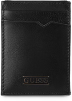 GUESS Black Front-Pocket Magnetic Leather Wallet