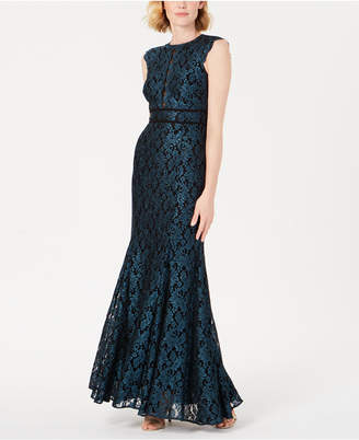 Night Way Nightway Glitter Lace Gown