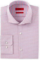 HUGO BOSS HUGO Men's Slim-Fit Red Mini Check Dress Shirt