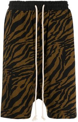 Yuiki Shimoji Tiger Print Drawstring Shorts