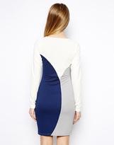 Asos Mini Dress in Textured Color Block