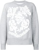 Sacai embroidered sweatshirt