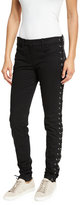 A.L.C. Dent Laced Skinny Jeans, Black