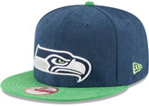 New Era Seattle Seahawks Summer Suede 9FIFTY Snapback Cap